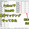 Python×Excel|2条件の比較突合で件数算出(COUNTIFs関数をopenpyxlで作る)