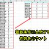 ExcelマクロVBAでCountIfs関数を作成(複数条件に合致する件数をカウント)