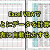エクセルマクロで週ごとにデータを合計し表に出力|VBAサンプルをダウンロード可